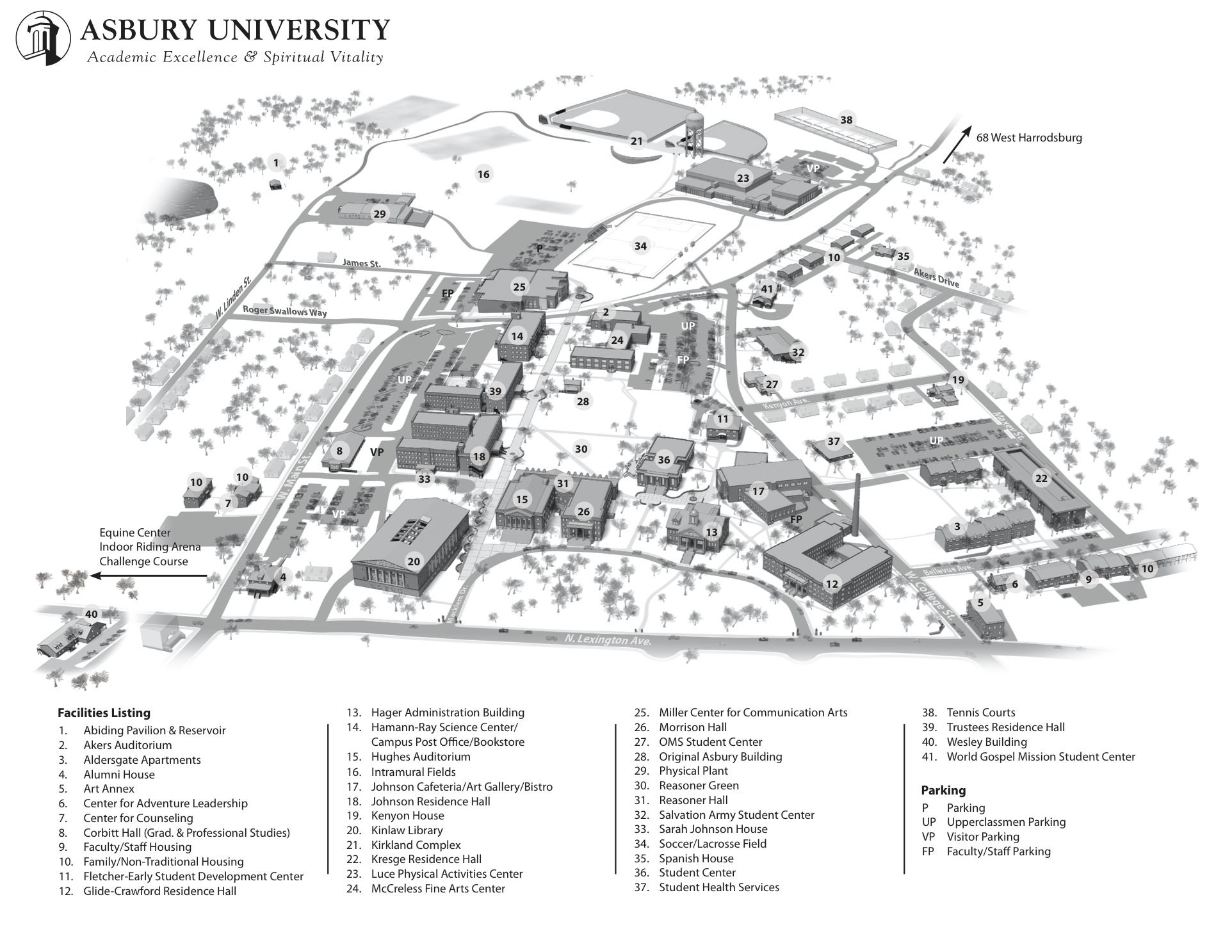 Nathaniel Winckler Campus Map