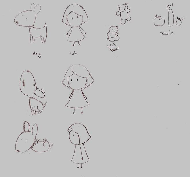 Lola & Her Dog - Character Refs