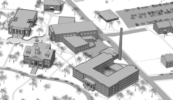 Campus Map - Close Up - GC Black and White