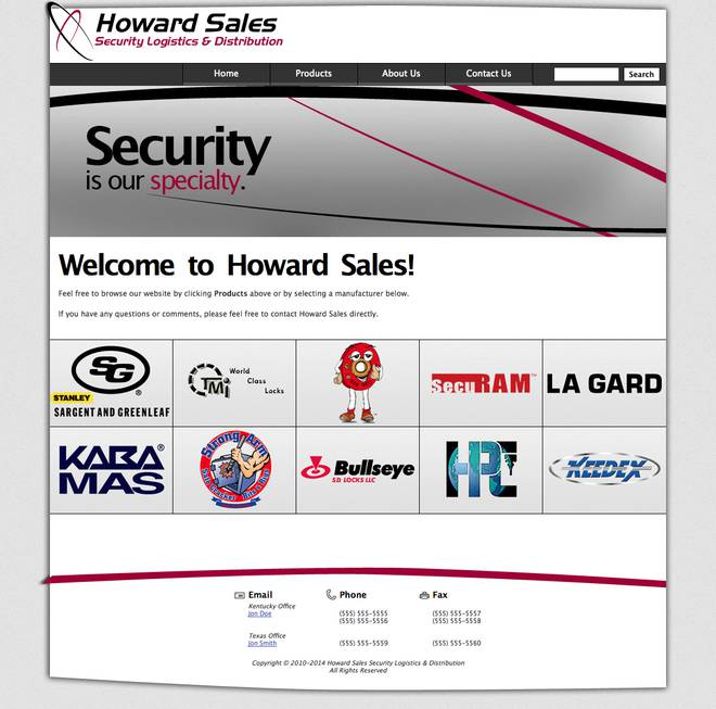 Howard Sales - Home page