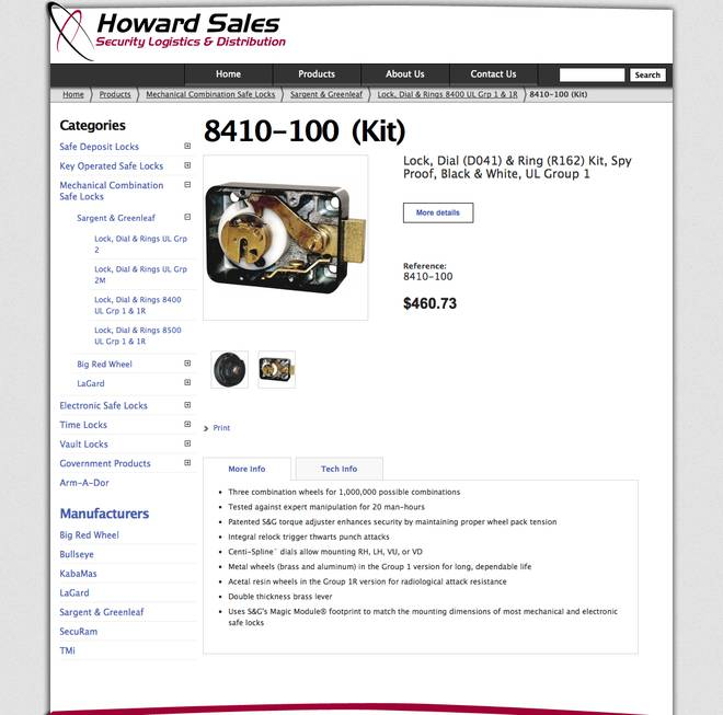 Howard Sales - Product